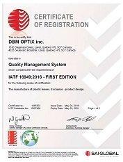 Accredited Quality Assurance IATF TS16949:2016 | DBM Optix